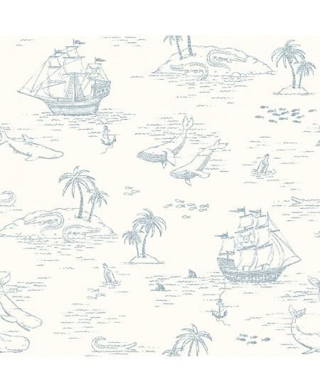 Tapetas Treasure Island Baltas
