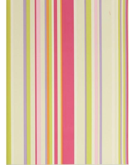 Tapetas Rožiniai dryžiai: rožinė, samana, violetinė