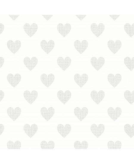 Tapetas Širdelės blizgios PILKA