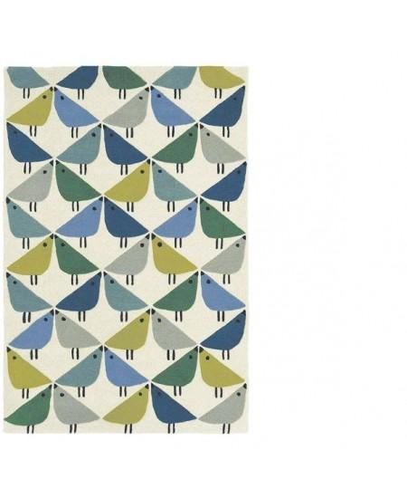 Vaikiškas kilimas Paukšteliai MELSVAS 90 x 150
