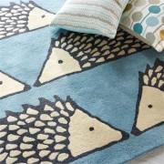 Vaikiškas kilimas Ežiukas MĖLYNAS 90 x 150