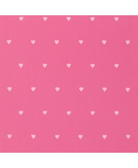 Rožiniam fone Širdelės