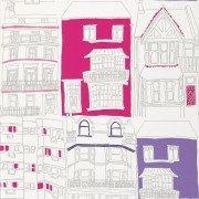 Senamiestis violetinė/ryškiai rožinė