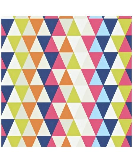 Tapetas Kaleidoskopas. Mėlyna/geltona