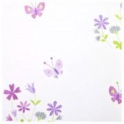 Violetiniai drugeliai su gelytėmis tapetai
