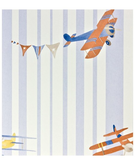 Tapetas Lėktuvai Acrobate. Melsvas